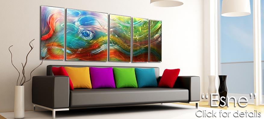 Esne - Rainbow/Colorful Metal Artwork by Nicholas Yust