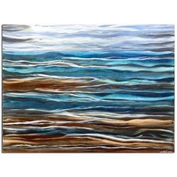 SEA BREEZE COMPOSITION | Coastal Painted Metal Art by Nicholas Yust