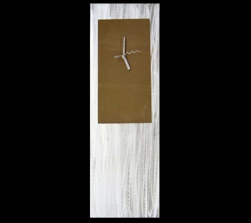 BROWN METAL CLOCK - Contemporary Decor by Nicholas Yust