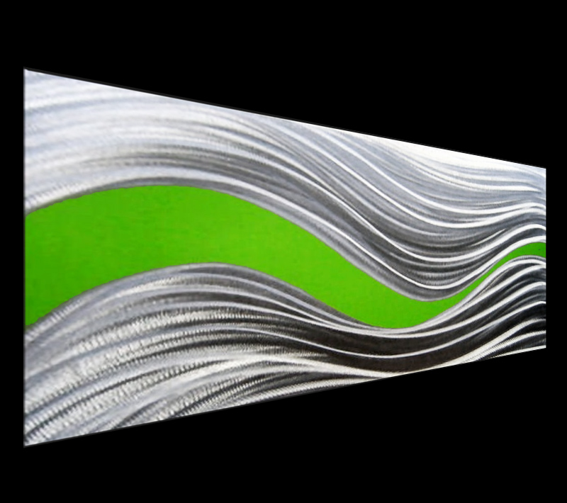 CONDUCTION GREEN - Original Metal Painting by Nicholas Yust