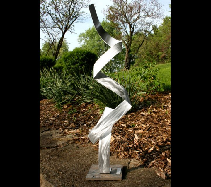 DORSUM - Silver Metal Sculpture by Nicholas Yust