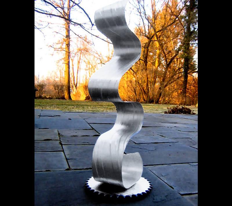 EFFUSION - Silver Metal Sculpture by Nicholas Yust