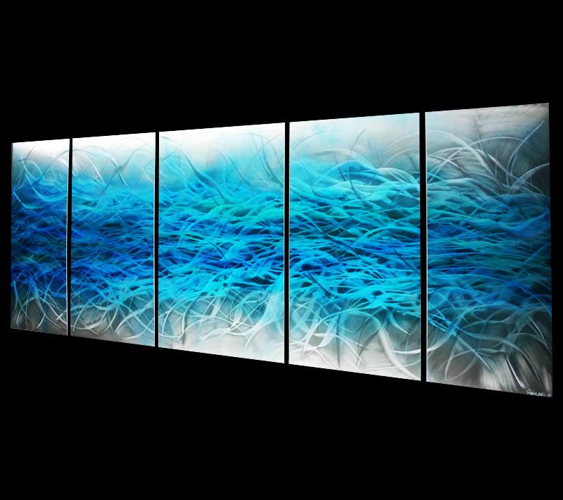 ELECTROLYTIC BLUE - Original Metal Painting by Nicholas Yust