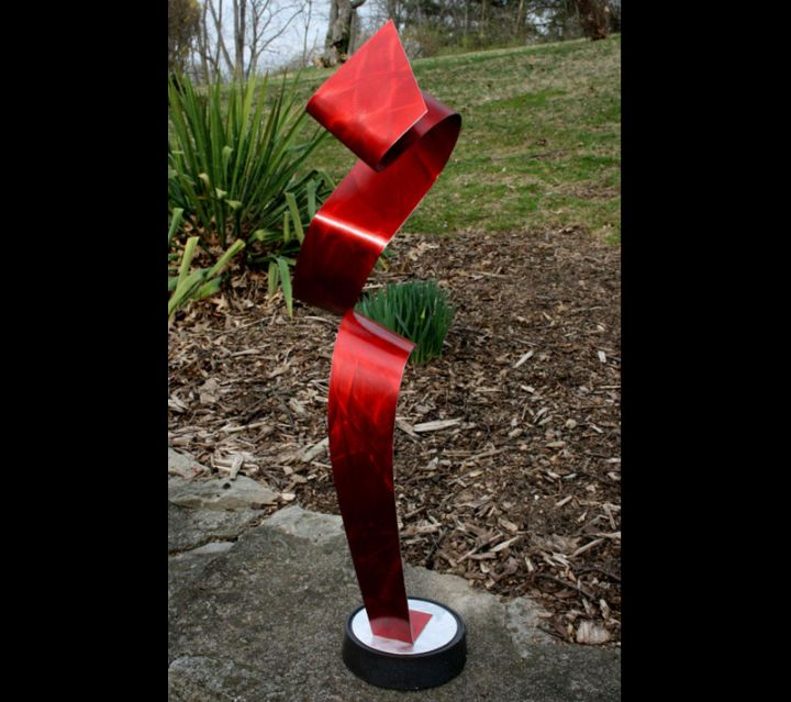FLUCTUATIONS - Painted Metal Sculpture by Nicholas Yust
