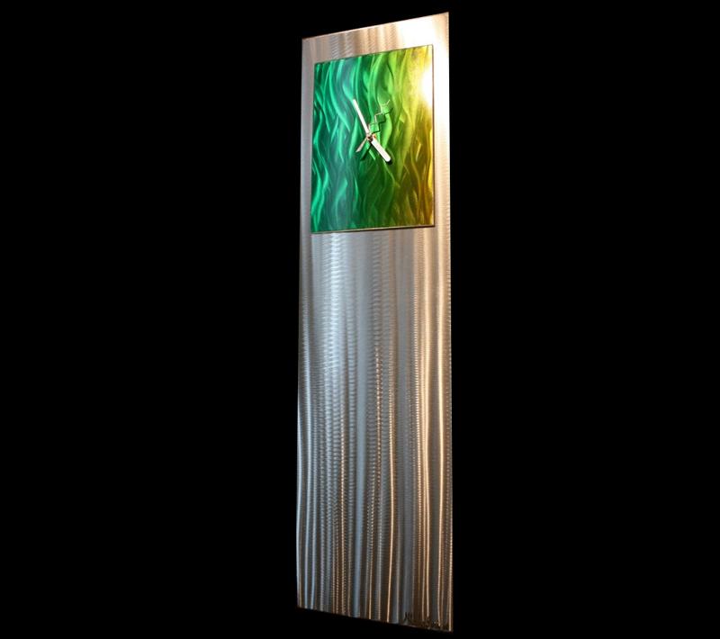 GREEN/YELLOW VIBE CLOCK - Contemporary Decor by Nicholas Yust