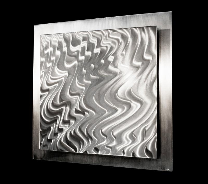 MAGMA ALUMINUM - Hand-Ground Metal Art by Nicholas Yust