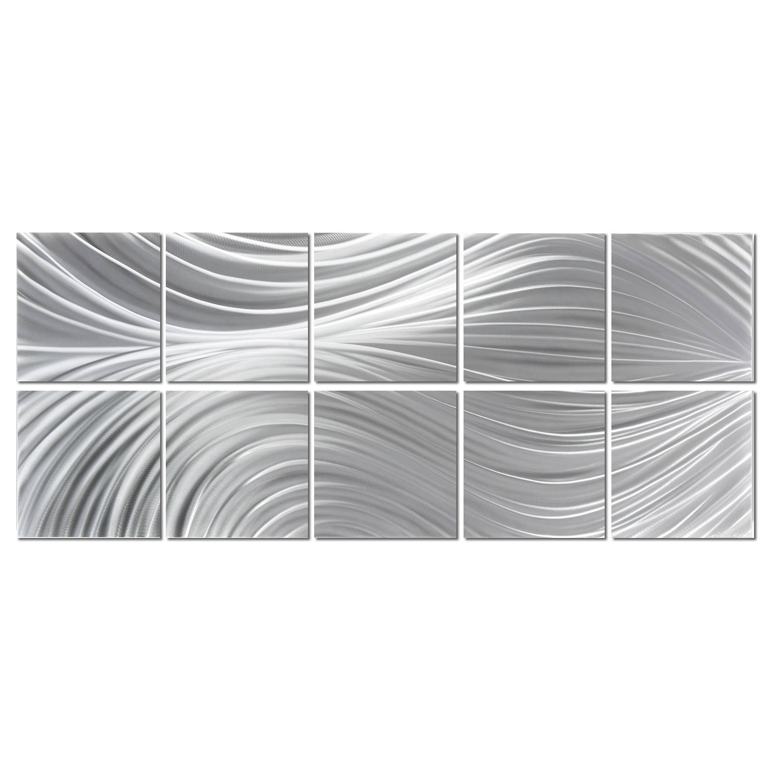 PASSING CURRENTS (10-PANEL) - Hand-Ground Metal Art by Nicholas Yust