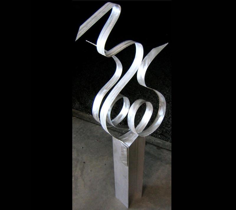 RELEASE - Silver Metal Sculpture by Nicholas Yust