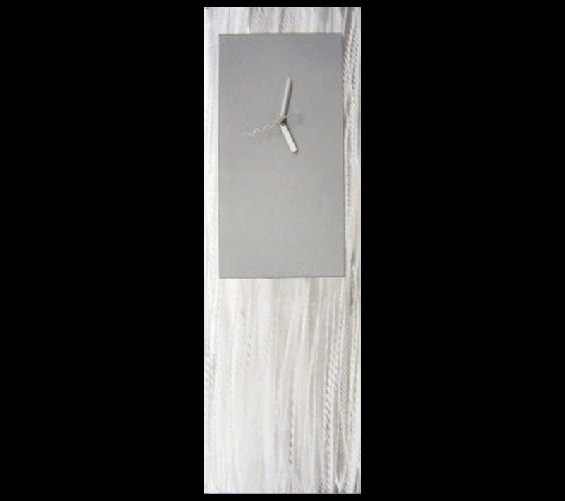 SILVER METAL CLOCK - Contemporary Decor by Nicholas Yust