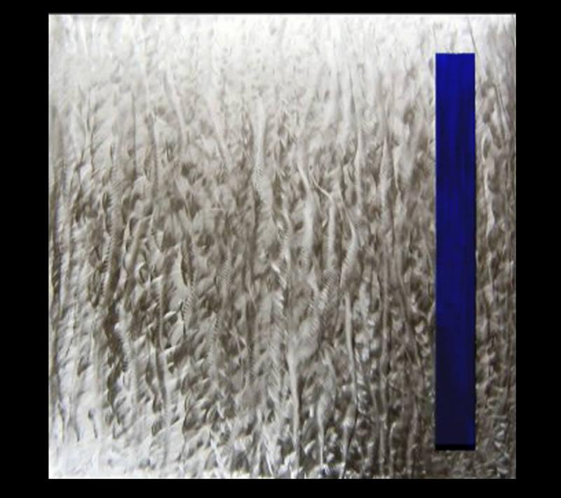 TENSION BLUE - Original Metal Painting by Nicholas Yust