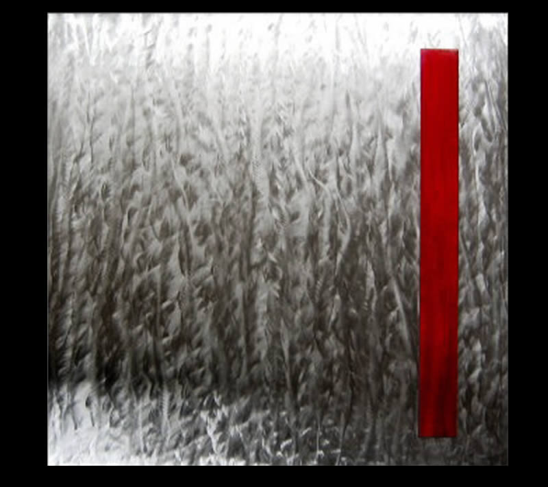 TENSION RED - Original Metal Painting by Nicholas Yust