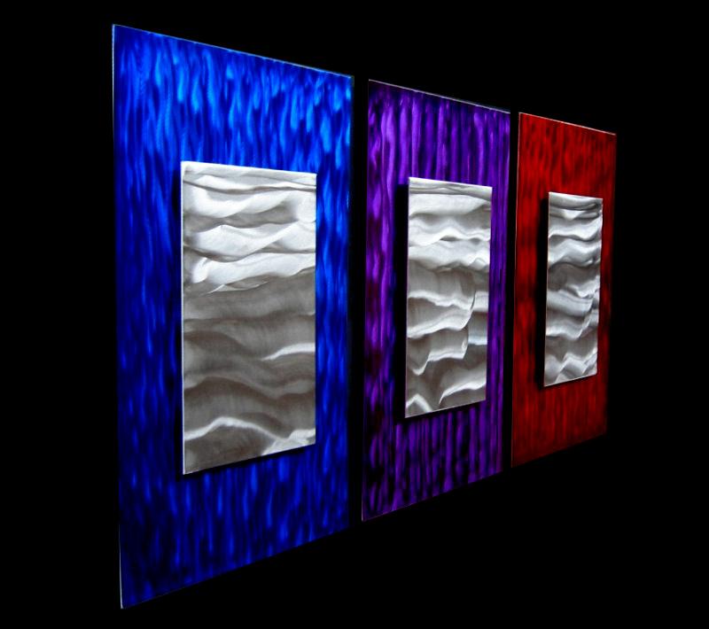 WINDOWS OF WATER - Original Metal Painting by Nicholas Yust