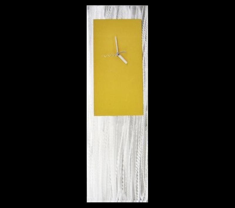 YELLOW METAL CLOCK - Contemporary Decor by Nicholas Yust