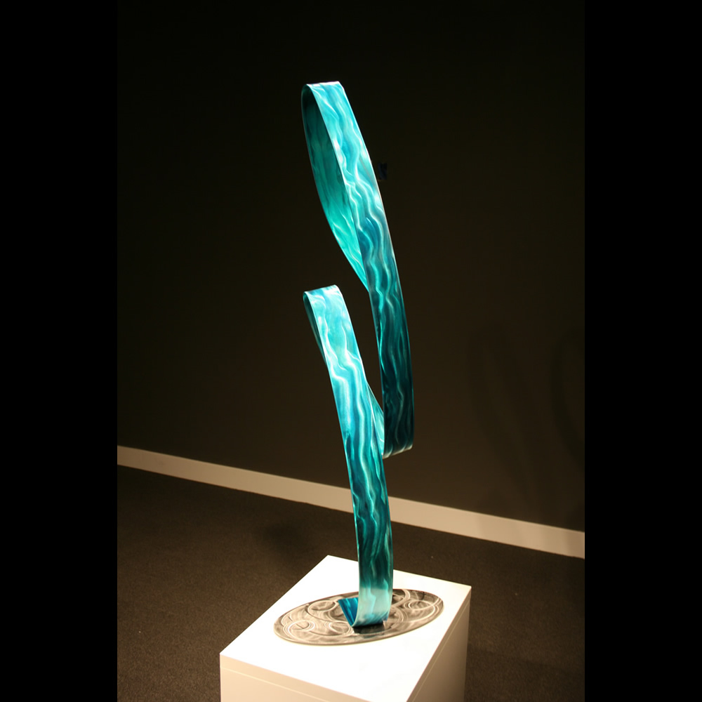AQUA MADONNA - Painted Metal Sculpture by Nicholas Yust