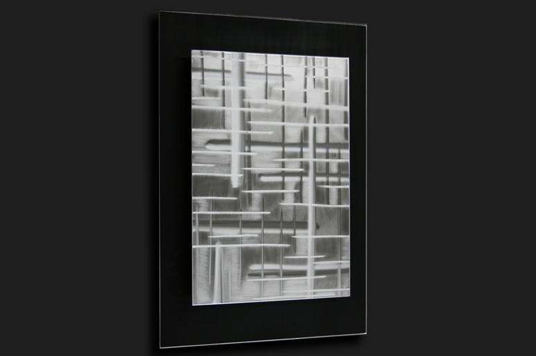 BLACK ON WHITE - Original Metal Painting by Nicholas Yust