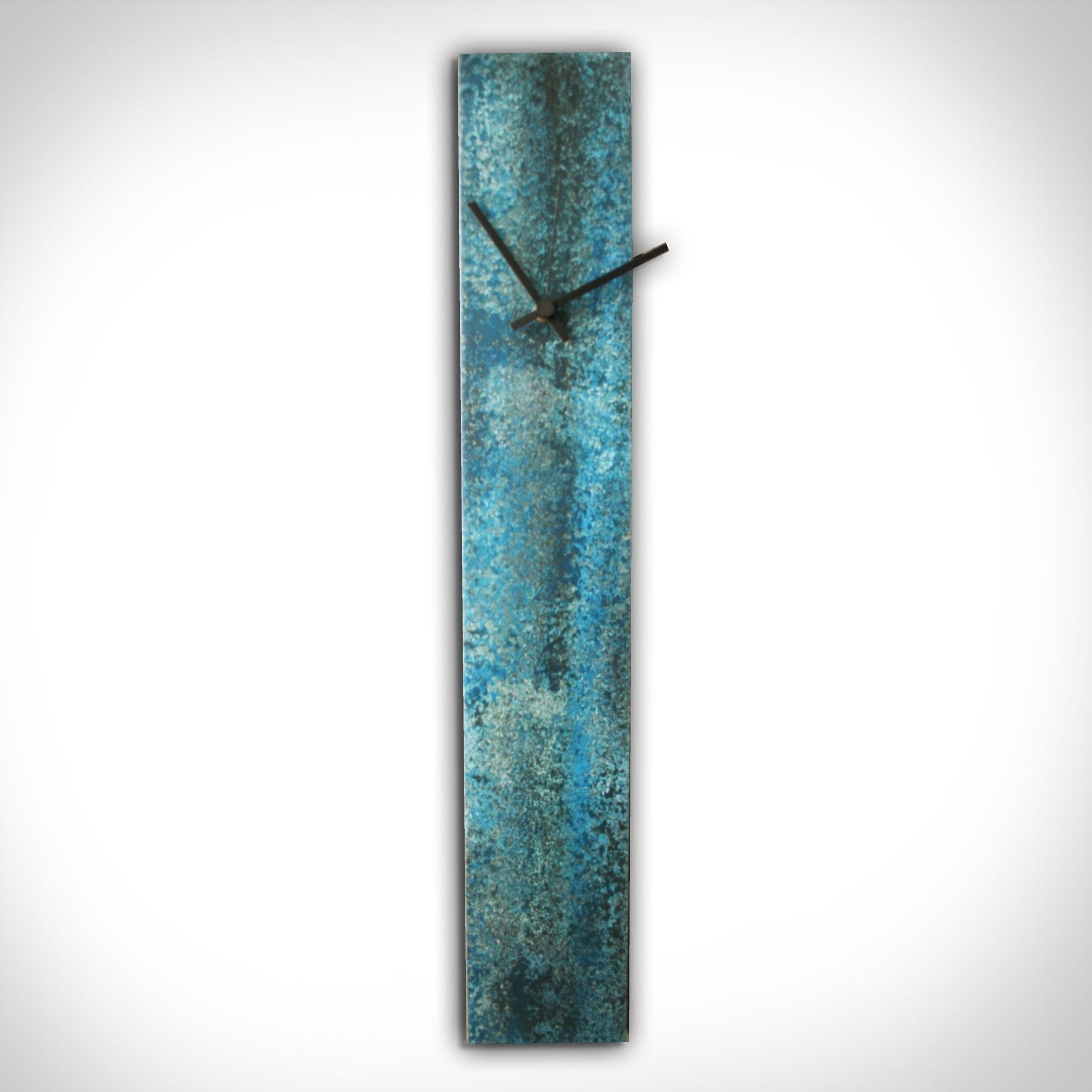 CORROSION BLUE CLOCK - Contemporary Decor by Nicholas Yust