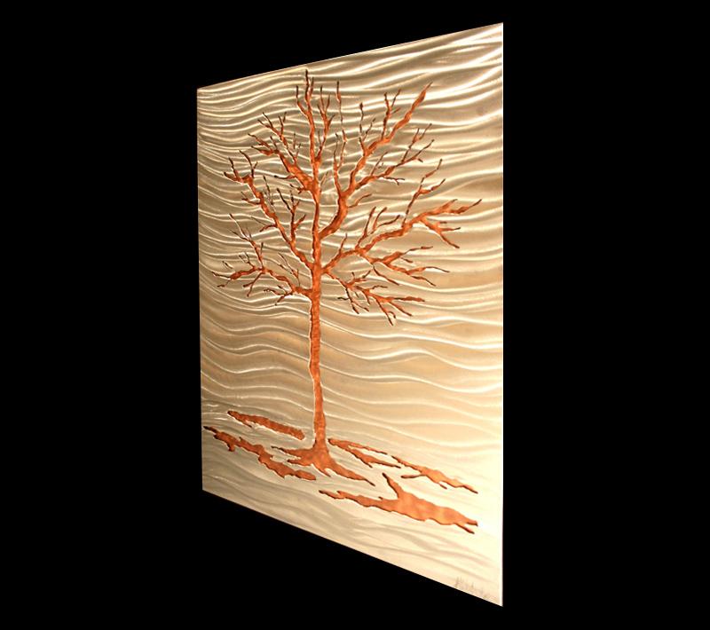 FIRE LAKE - Copper Landscape Art by Nicholas Yust
