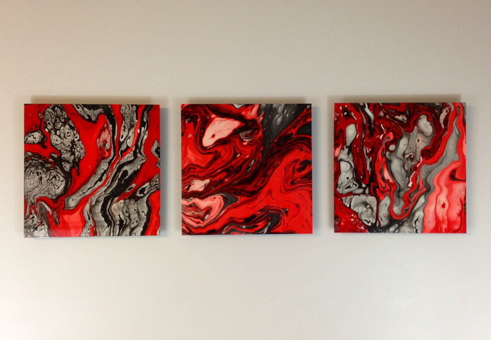 FLOWING MAGMA - Abstract Metal Painting by Nicholas Yust