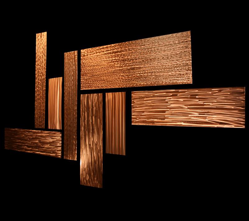 FRACTURE - Copper Panels by Nicholas Yust