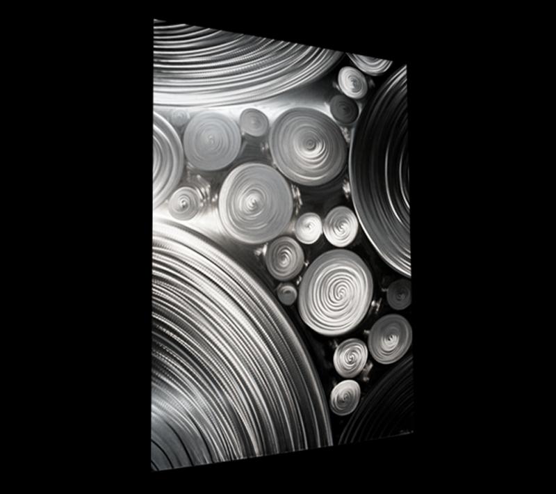 INTER-DIFFUSION SINGLE - Hand-Ground Metal Art by Nicholas Yust