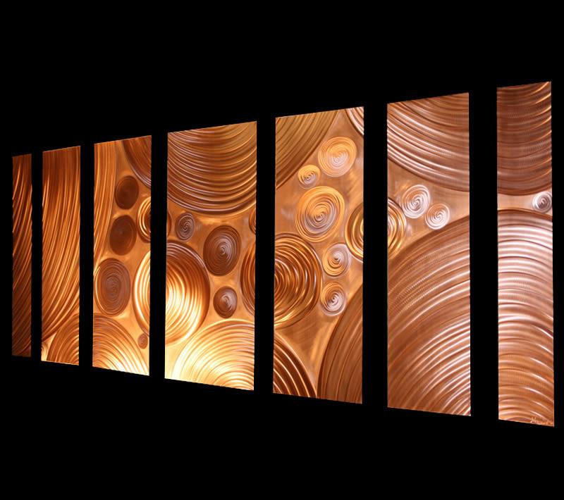 INTERDIFFUSION COPPER LARGE - Huge Wall Art by Nicholas Yust
