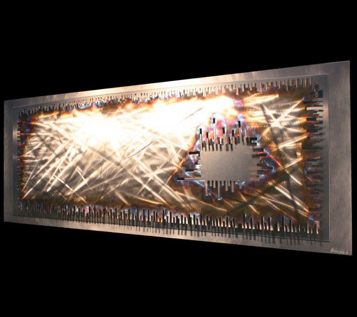 INTERSTELLAR - Torch-Colored Metal Art by Nicholas Yust