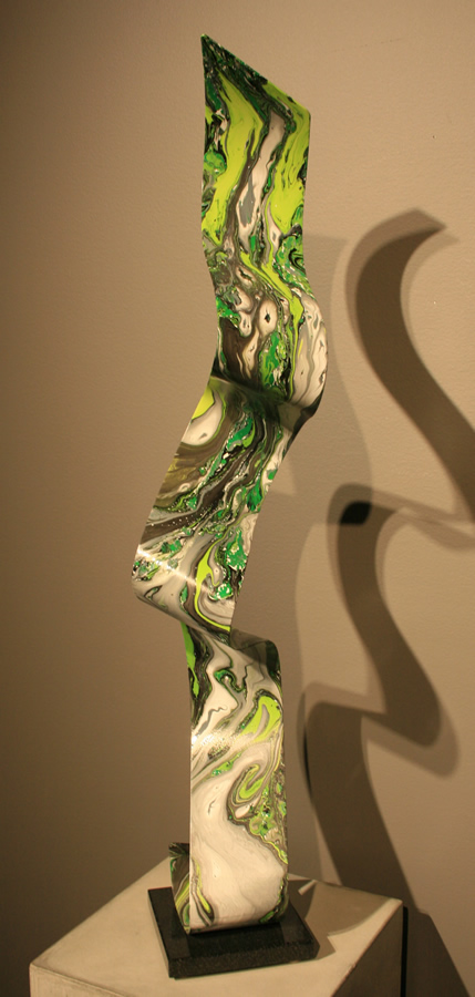 LIQUID FOREST: 1-OF-A-KIND - Painted Metal Sculpture by Nicholas Yust