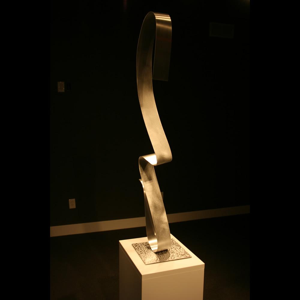 LOCHNESS - Silver Metal Sculpture by Nicholas Yust
