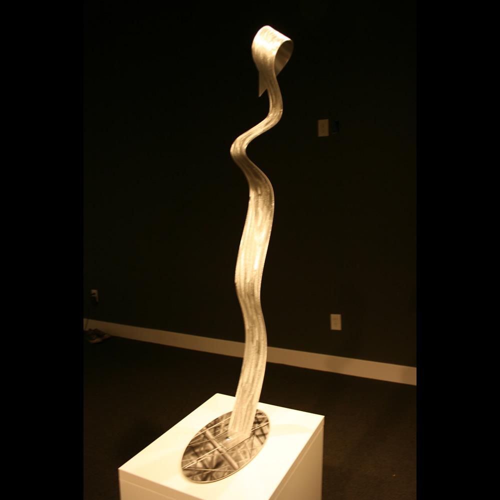LOOKING AWAY - Silver Metal Sculpture by Nicholas Yust