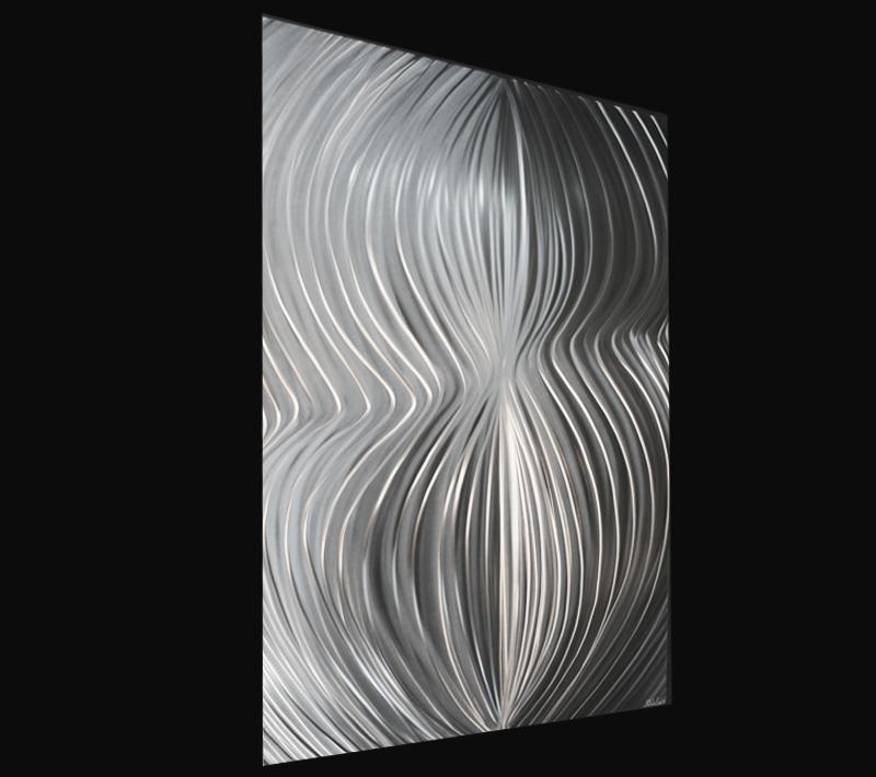 POLAR ATTRACTION SINGLE - Hand-Ground Metal Art by Nicholas Yust