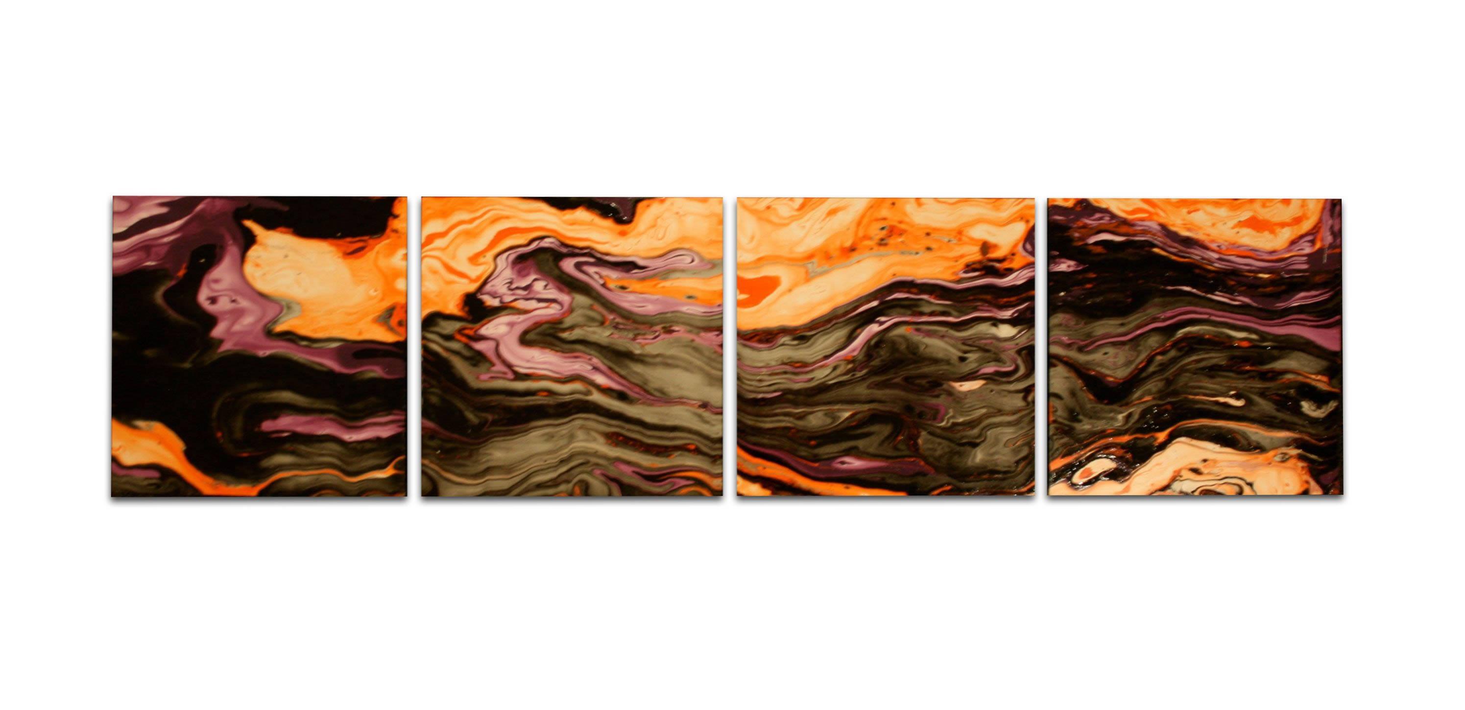 PURPLE ORACLE - Dip-Painted Metal Art by Nicholas Yust