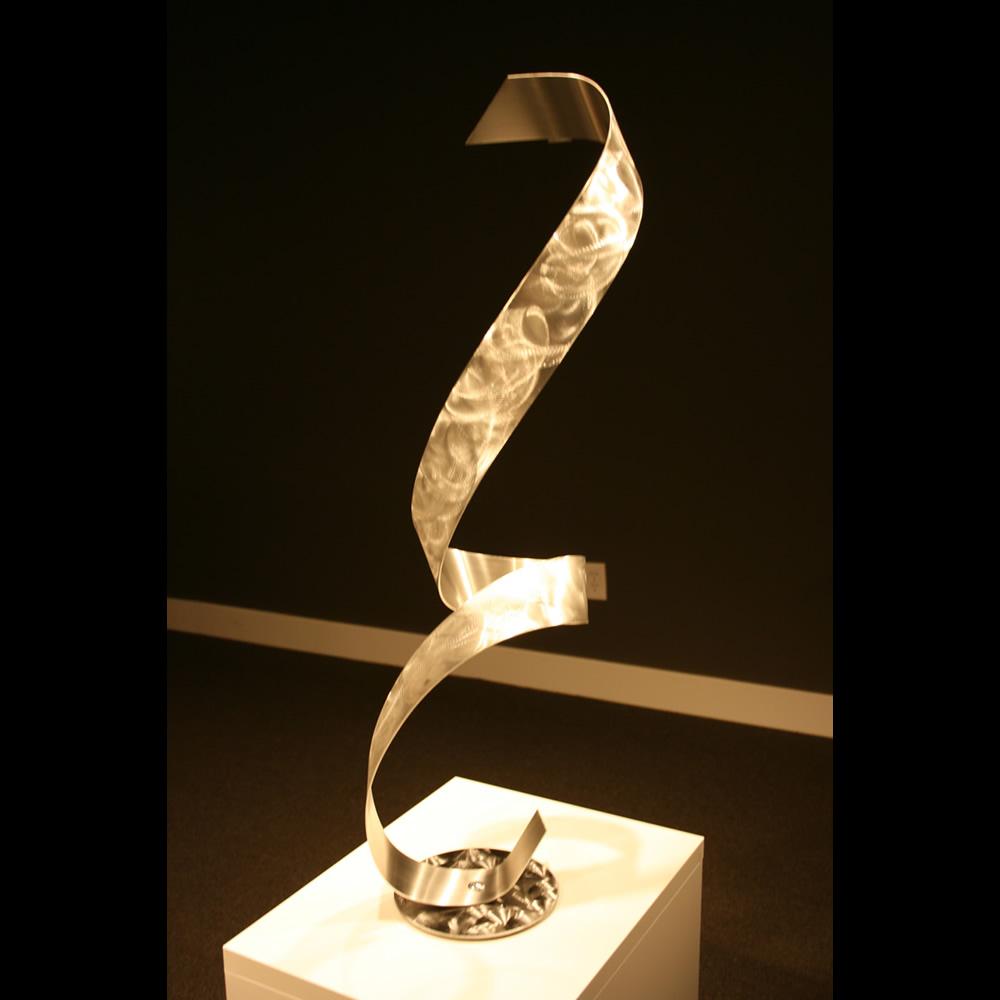 SILVER SWAN - Silver Metal Sculpture by Nicholas Yust