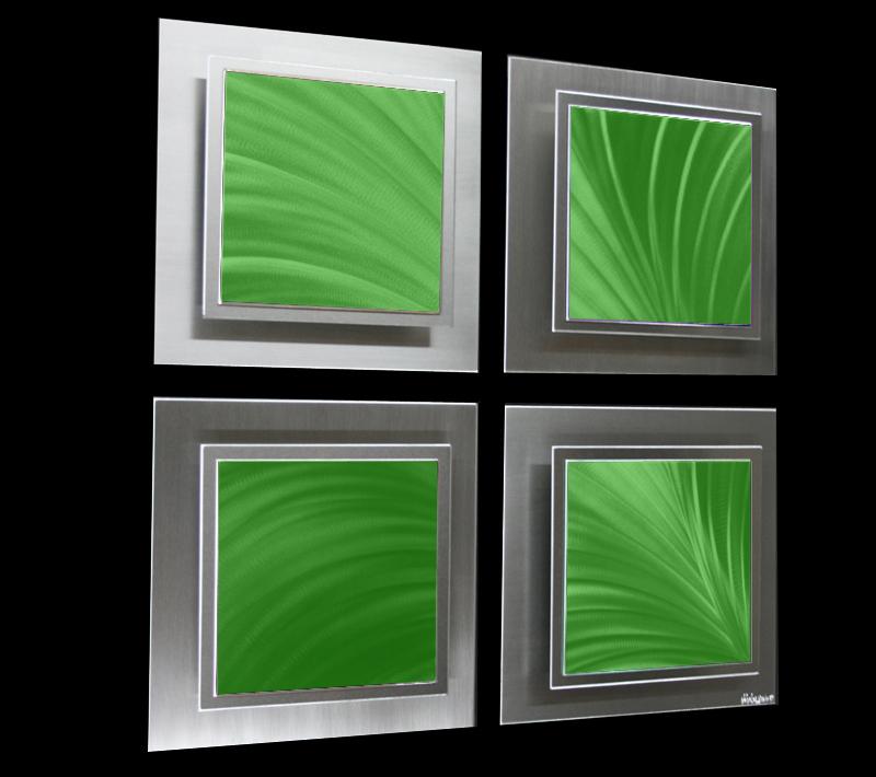 SOMEWHERE GREEN - Original Metal Painting by Nicholas Yust