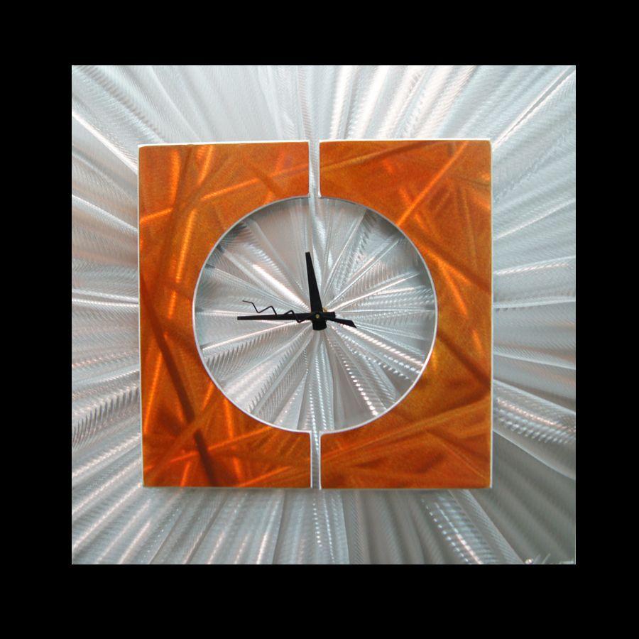 SPLICE CLOCK ORANGE - Contemporary Decor by Nicholas Yust