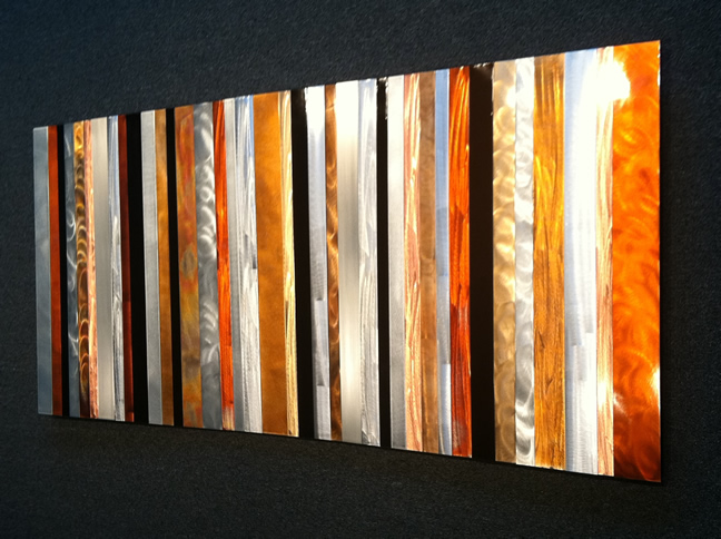 STRIATIONS - Multi-Metal Strips Art by Nicholas Yust