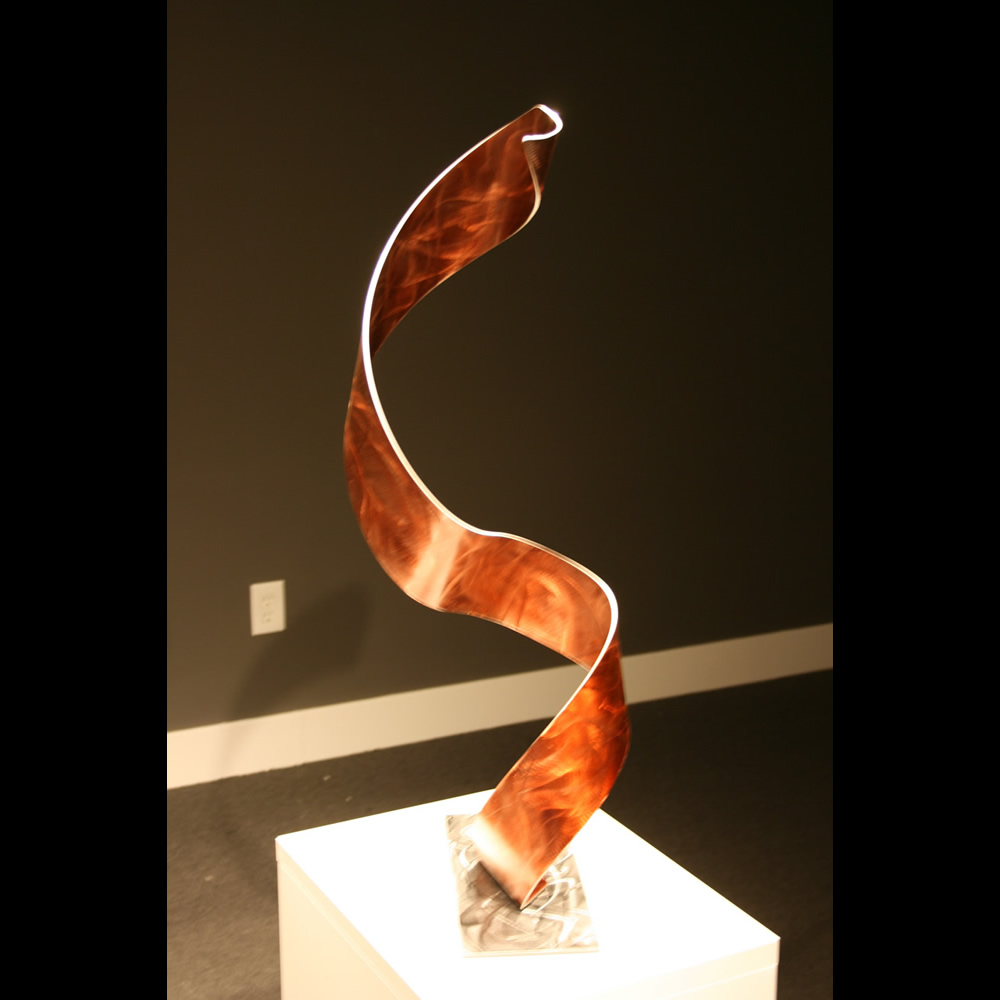 THE SICKLE - Painted Metal Sculpture by Nicholas Yust