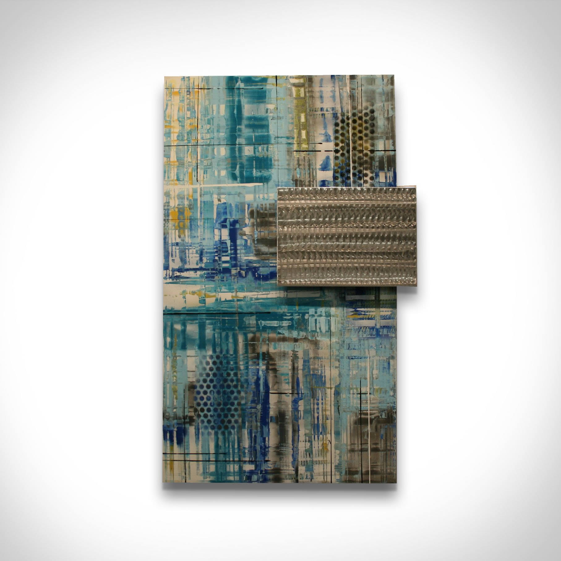 URBAN MOD - Abstract Metal Painting by Nicholas Yust