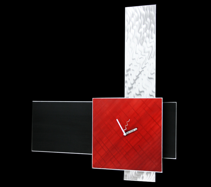 VERA RED CLOCK - Contemporary Decor by Nicholas Yust
