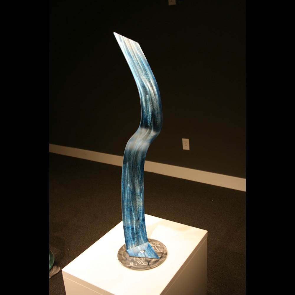 WATERFALLS - Painted Metal Sculpture by Nicholas Yust