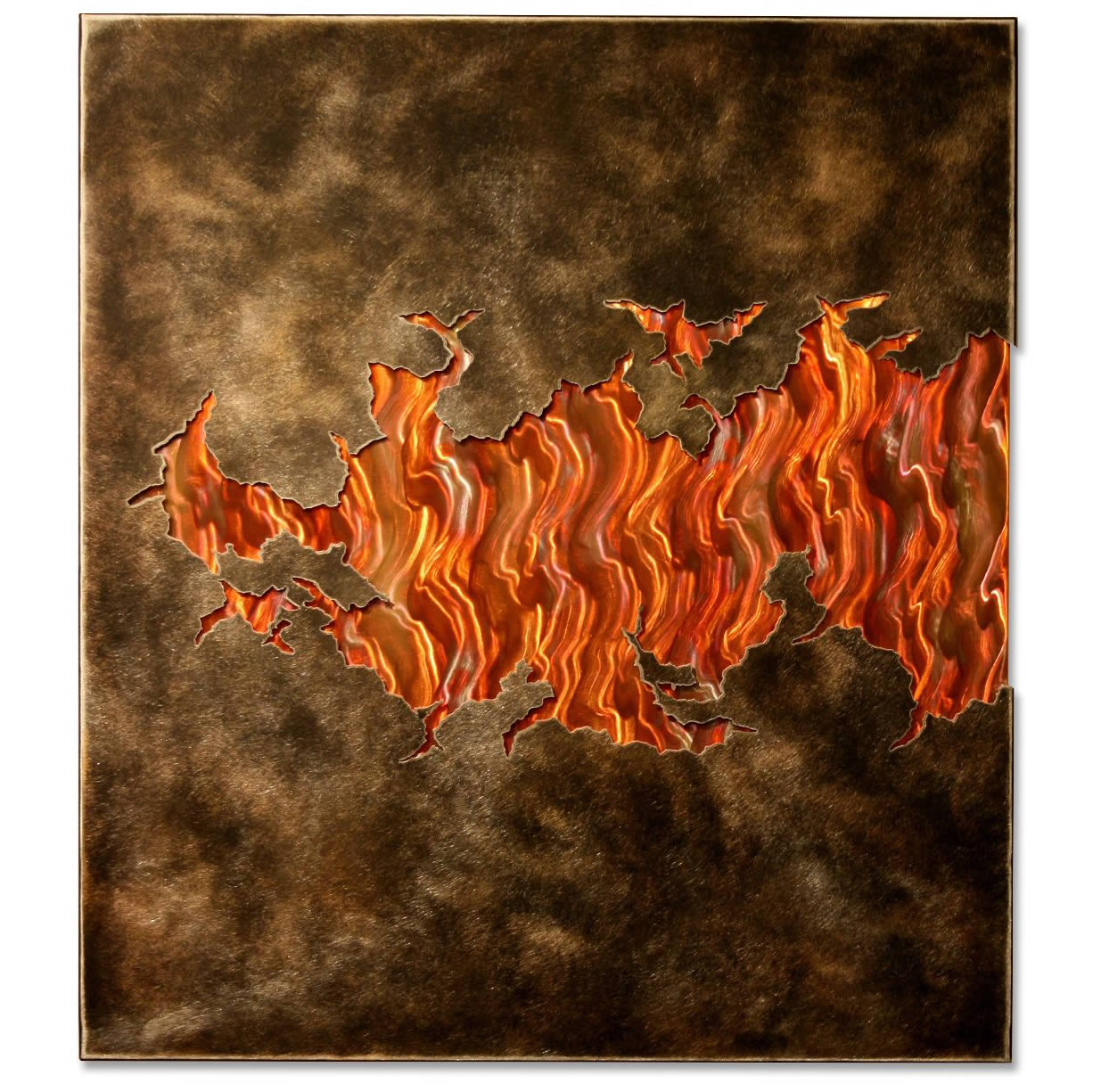 FIRE WITHIN V3 - Torch-Colored Metal Art by Nicholas Yust