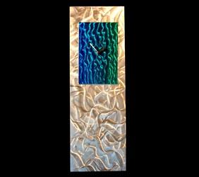 BLUE/GREEN REFLECTIONS CLOCK - Contemporary Decor by Nicholas Yust