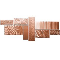 CRYSTALLIZED GRID COPPER - Large Wall Display by Nicholas Yust