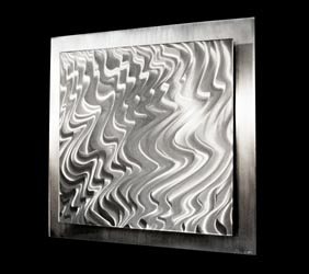 MAGMA ALUMINUM - Hand-Ground Metal Art by Nicholas Yust