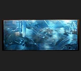 OCEANUS - Original Metal Painting by Nicholas Yust