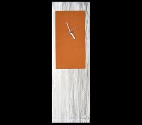ORANGE METAL CLOCK - Contemporary Decor by Nicholas Yust