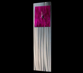 RASPBERRY VIBE CLOCK - Contemporary Decor by Nicholas Yust