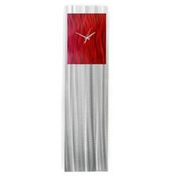 RASPBERRY/RED VIBE CLOCK - Contemporary Decor by Nicholas Yust