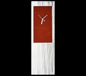 RED METAL CLOCK - Contemporary Decor by Nicholas Yust
