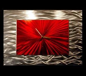 RED MODULAR CLOCK - Contemporary Decor by Nicholas Yust