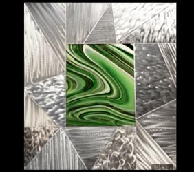REFLECTIVE SCAPE - Layered Metal Art by Nicholas Yust